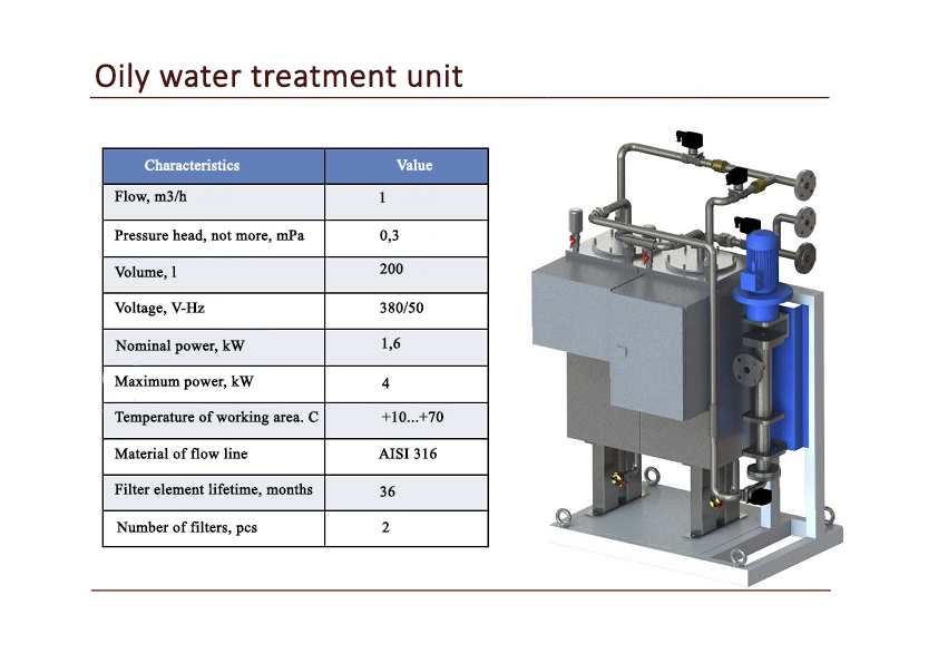 Oily water treatment unit
