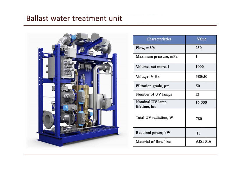 Ballast water treatment unit